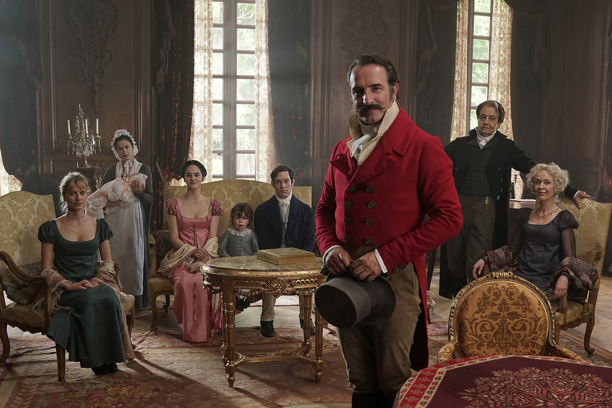 Christophe Brachet Sony Alpha 7RII group of french actors in period costume pose for the camera