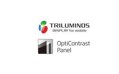 Logotipo de pantalla TRILUMINOS y panel OptiContrast