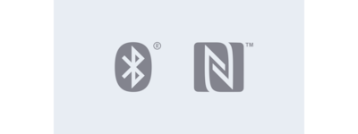 Logotipos de Bluetooth® y NFC