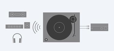 Imagen de Tocadiscos con conectividad BLUETOOTH®
