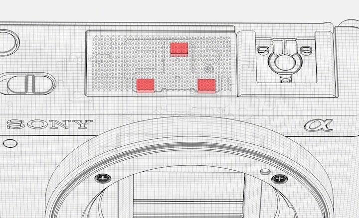 Una ilustración del micrófono direccional de 3 cápsulas en el interior de la ZV-E10