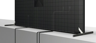 Imagen de la parte trasera del TV mostrando la distribución de los cables