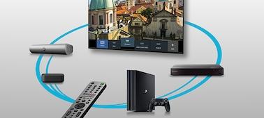 Imagen de dispositivos conectados controlados por Smart Remote