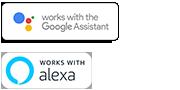 Logotipos de Google Assistant y Alexa