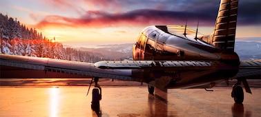 Imagen de un avión con detalles en HDR
