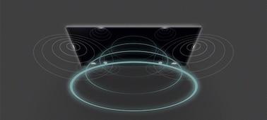 Imagen de las ondas sonoras del televisor con Acoustic Multi-Audio™