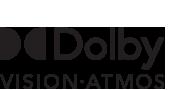 Logotipos de Dolby Vision y Atmos