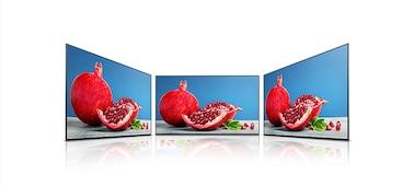 Comparación de pantallas con y sin X-Wide Angle™