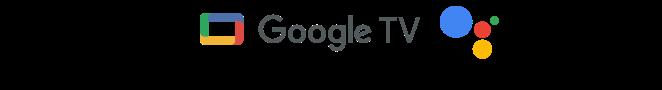Logos de Google TV y el Asistente de Google