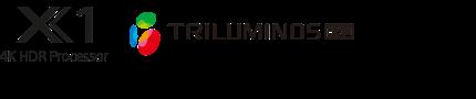 Logotipos de 4K HDR Processor X1 y TRILUMINOS PRO
