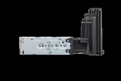 Vista lateral del soporte del XAV-AX8050D con ajuste de profundidad