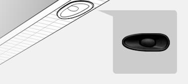 Imagen que muestra el detalle de ubicación del X-Balanced Speaker™