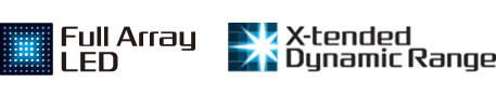 Logotipos de Full Array LED y X-tended Dynamic Range