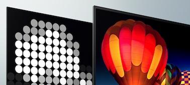 Imágenes en pantalla que muestran un contraste extremo un una profundidad realista