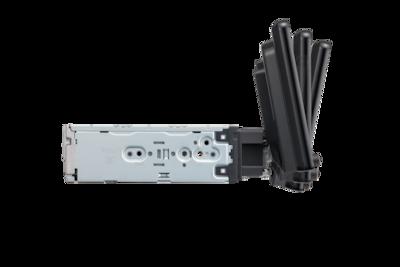 Vista lateral del soporte del XAV-AX8050D con ajuste de inclinación